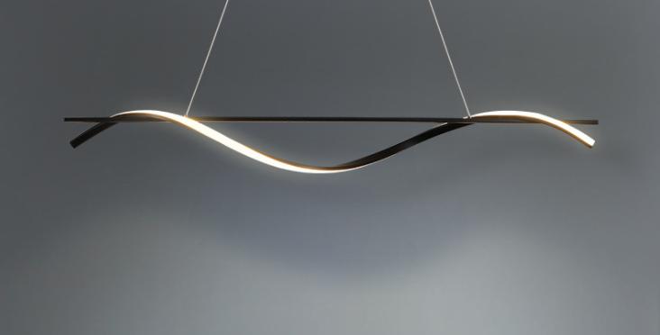 LED Wave Design Office Pendant Light