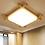 Thumbnail: LED Japanese Style Design Wood Ceiling Light