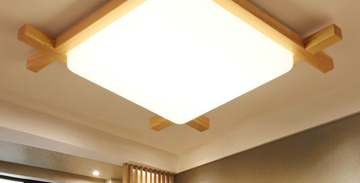 LED Japanese Style Design Wood Ceiling Light