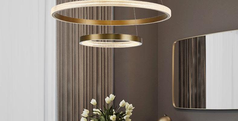 LED Circle Rings Pendant Chandelier