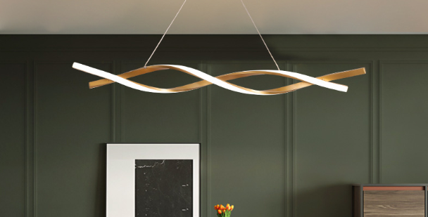 LED Wave Design Modern Pendant Light