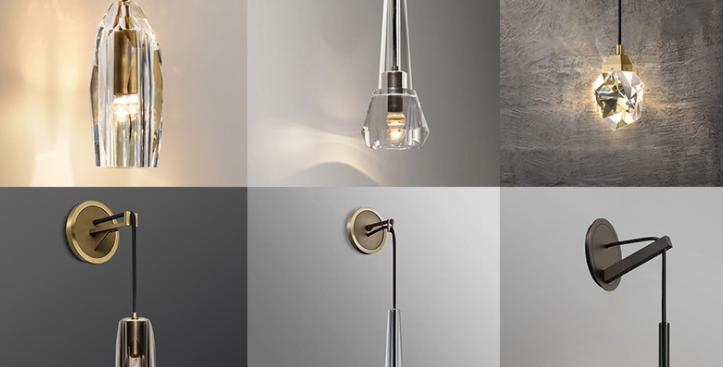 LED K9 Crystal Luxury Multi-Design Creative Wall Pendant Light