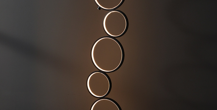 LED 5-Halo Decorative Floor Lamp