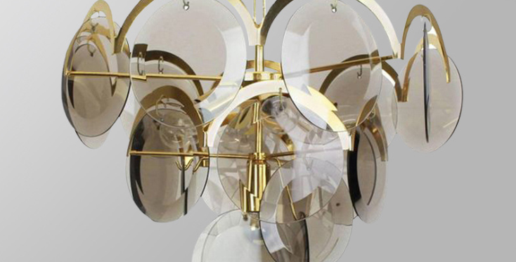 LED Glass Disks Pendant Light