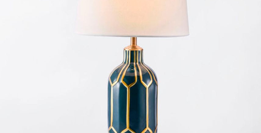 LED Ceramic Country Style Table Lamp