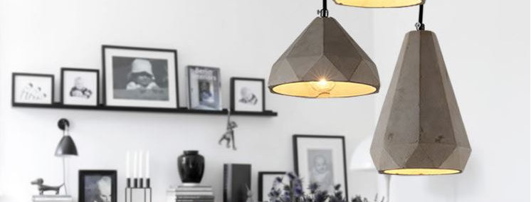 Vintage Style LED Cement Pendant for Kitchen Restaurant Dining Room
