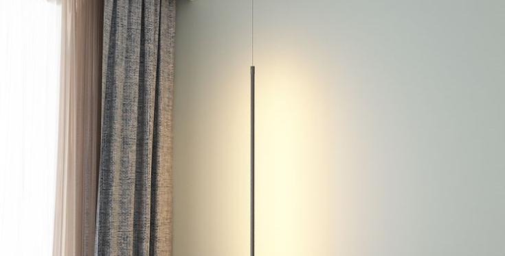 LED Vertical Linear Decorative Pendant Light