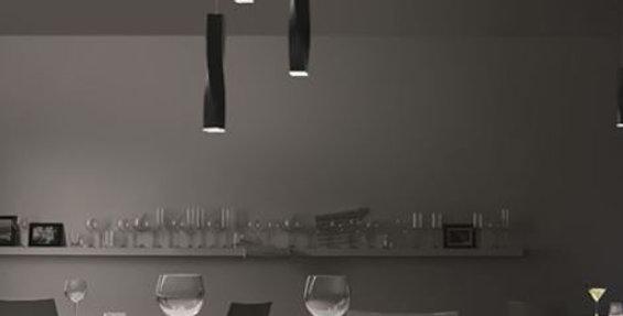LED Twisted Strip Pendant Light