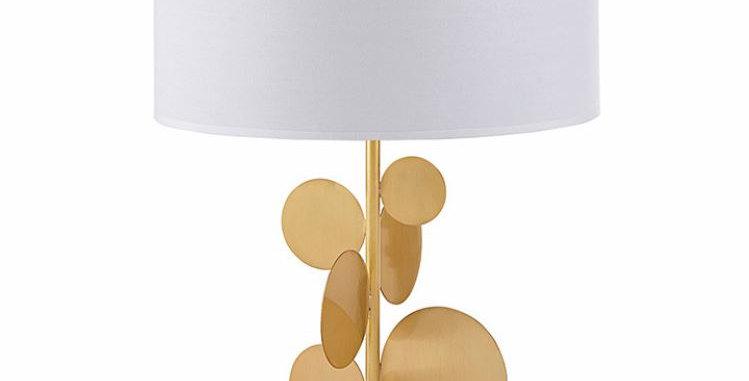 LED Metal Leaf Table Lamp