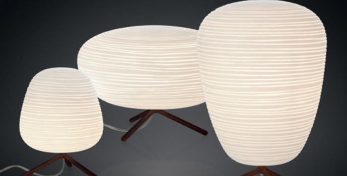 LED Helix Glass Table Lamp