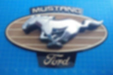 Custom Mustang Logo Plaque for My Friend's Son