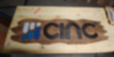 Custom Distressed Cinc Sign for JK Realty