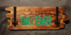 Enchanted Tiki Bar Sign with Metal Accents