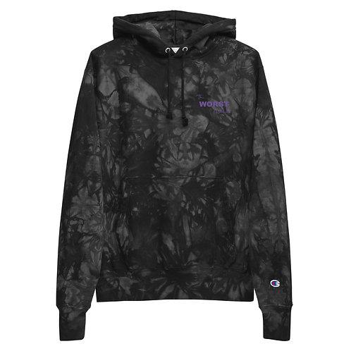 The WORSTxChampion tie-dye hoodie