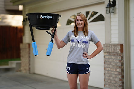 Set-up is easy with the PowerSpike Volleyball Trainer
