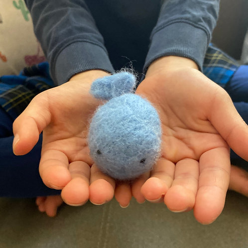 Fuzzy Fred - Hand Felted Wool Whale