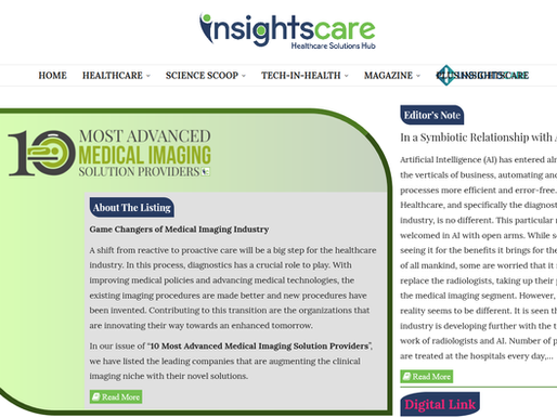HT BioImaging is listed in the top 10 Most Advanced Medical Imaging Solution Providers