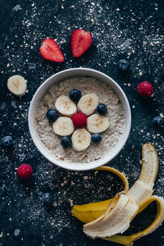 make ahead steel cut oats with fresh fruit