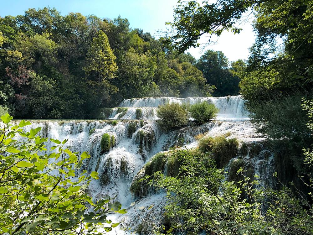 Skrandinski buk waterfall at Krka National Park