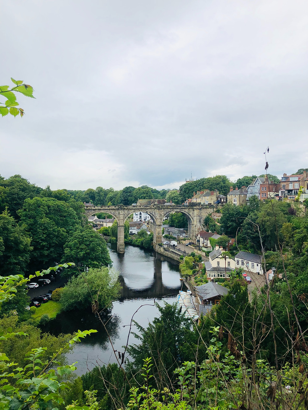 View of viaduct and river from Knaresborough Castle