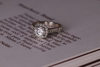 Diamon Ring on Book Page, Art Style Story 2.1,Image by Sabrinna Ringquist