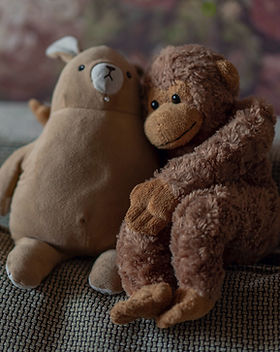 stuffed animals mokey bear children night time