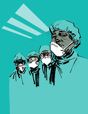 Doctors-Pandemic-Illustration-by-United-Nations-COVID19-Response-jawbreaking