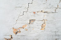 Water Damages wall with cracks