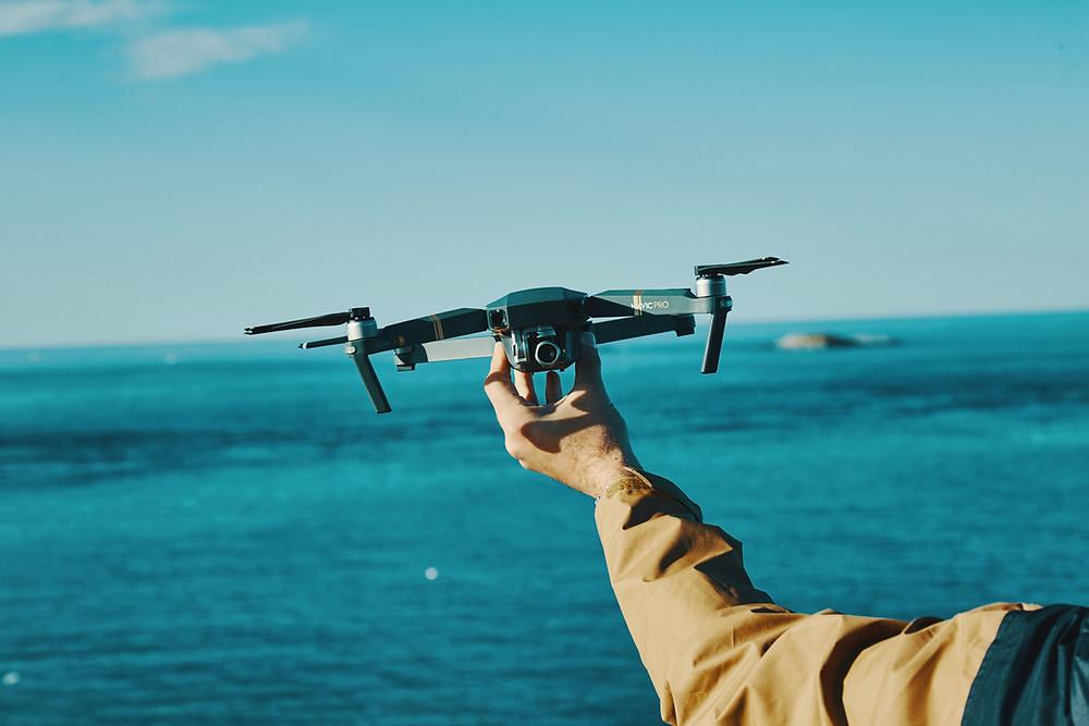 un photographe drone