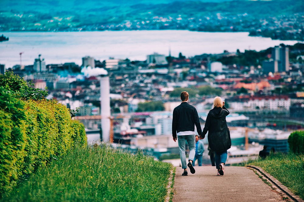 Walking is a great way to stay healthy while traveling