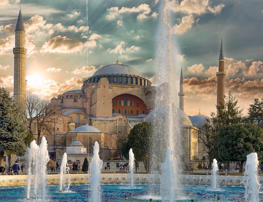 Hagia Sophia Mosque / Museum in Istanbul, Turkey. Hagia Sophia and the Politicizing of Religion