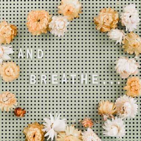 Jo's Journal: Taking a Deep Cleansing Breath