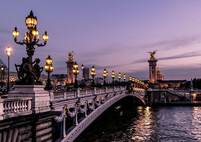 Alexandre III Bridge in Paris by Léonard Cotte