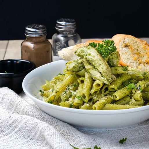 Pea-shoot Pesto Pasta