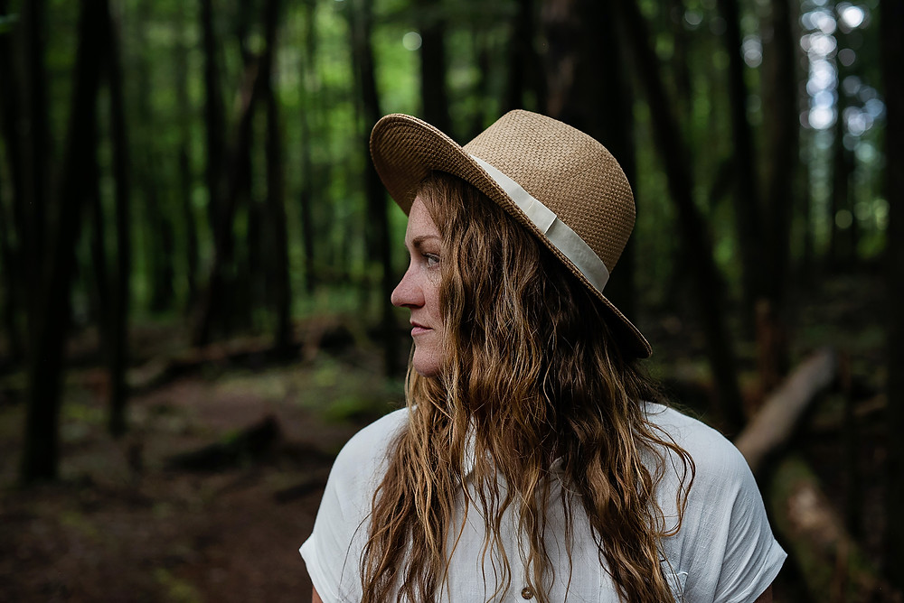 addiction recovery girl in forest