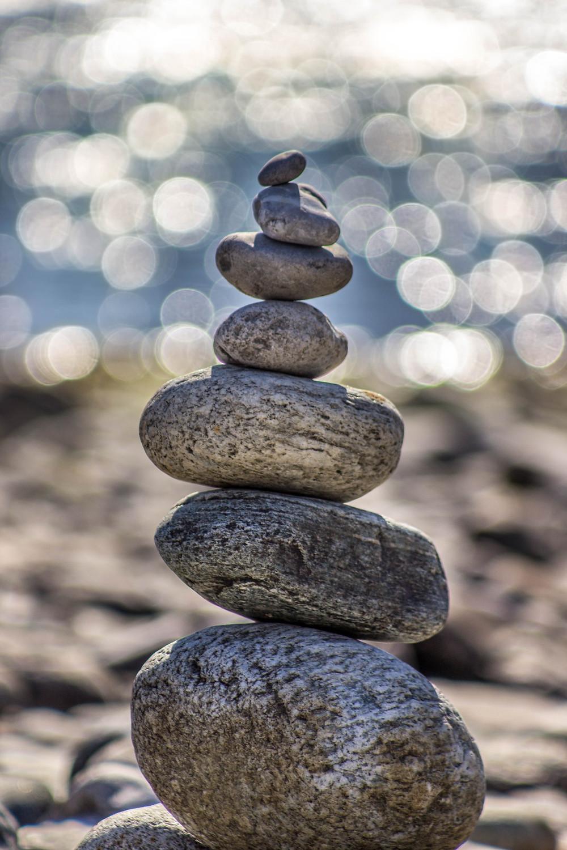 Steine am Meer, Strand, Spiritualität