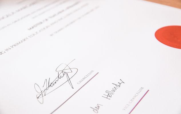 Accountants Certificate