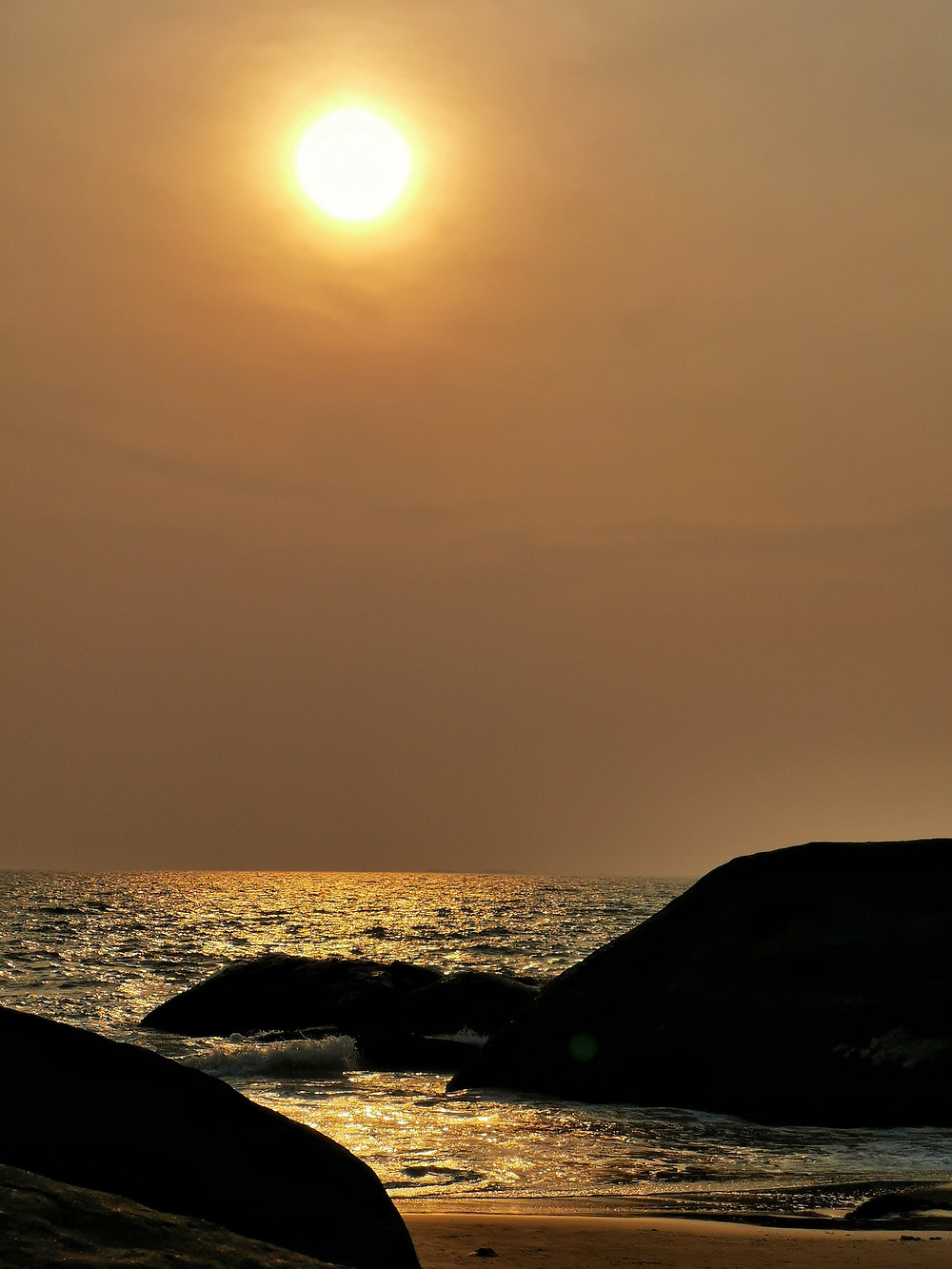Sunset at the Kaup Beach, Karnataka