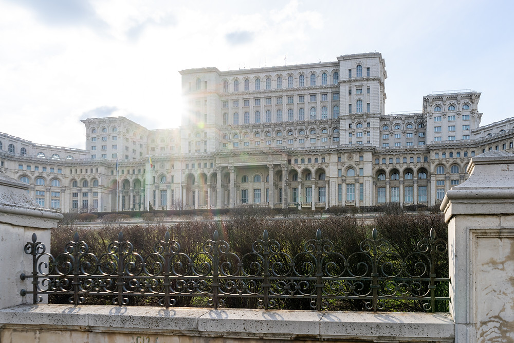 the biggest building in the world; Buchrest, Romania; palace of the parliament