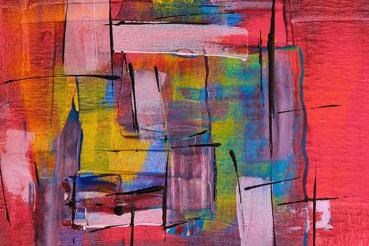 Peinture abstraite colorée art Paris