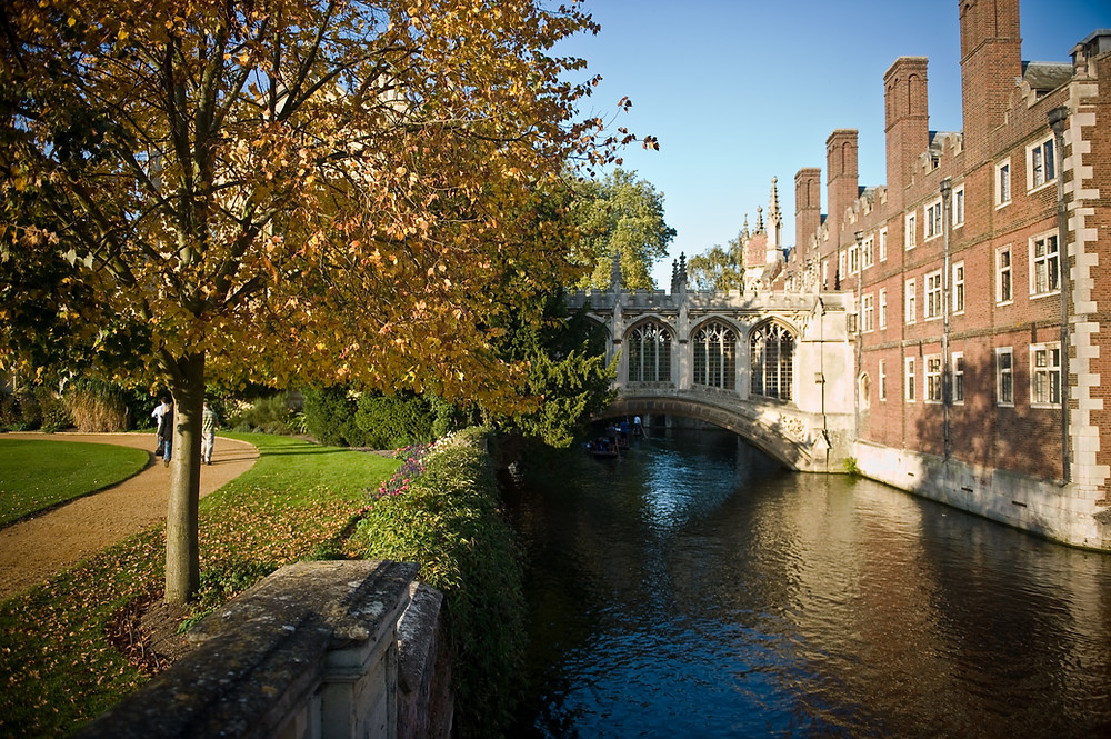 Bridge of Sighs on River Cam, Cambridge