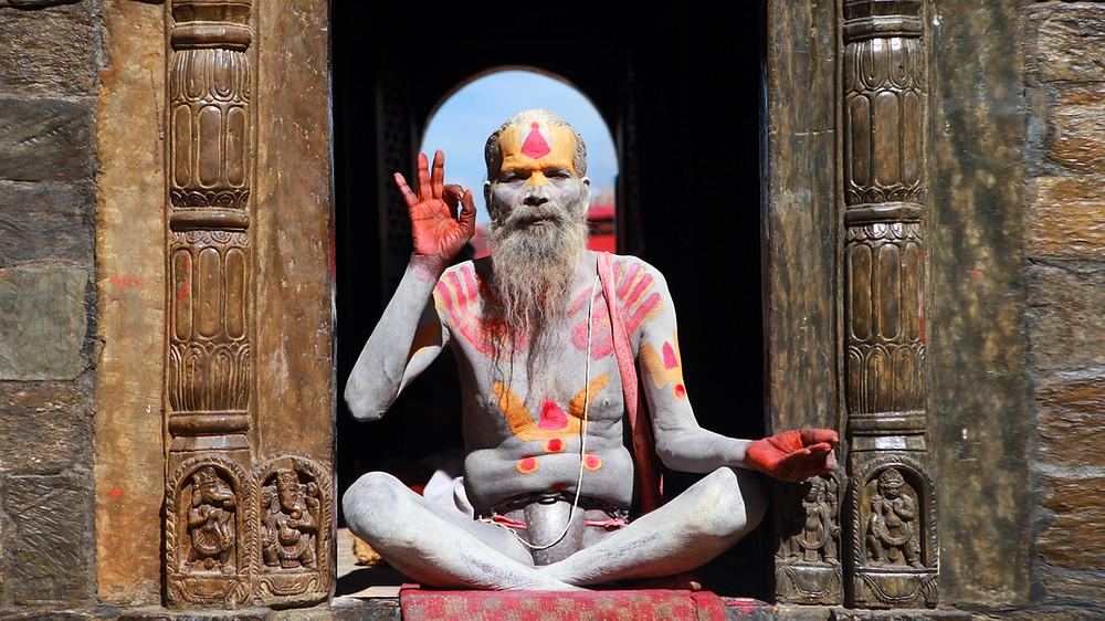 נזיר בודהיסטי בפודנצ'רי הודו