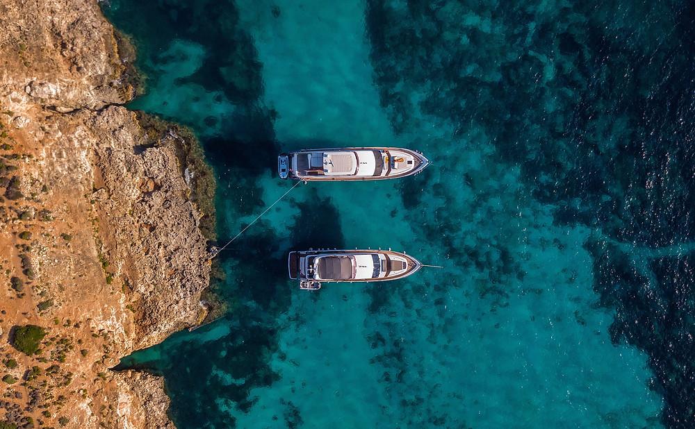 A boat trip around blue lagoon in Malta.
