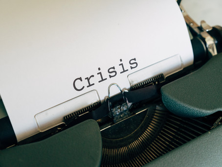 A CRISIS IS A TERRIBLE THING TO WASTE