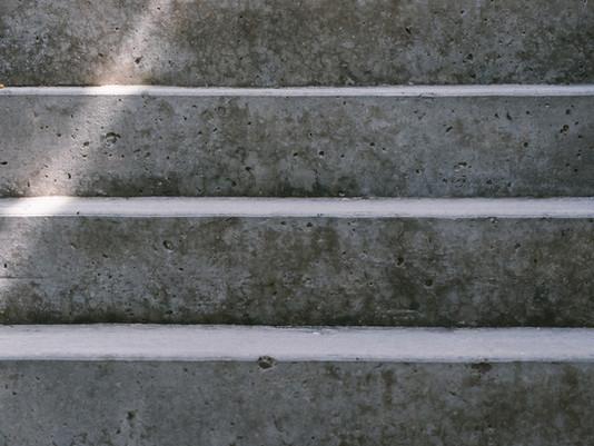 Faux escalier en trompe l'œil