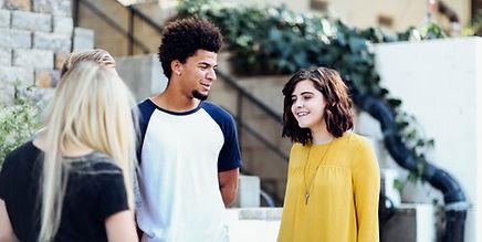 Teens talking together (Alexis Brown)