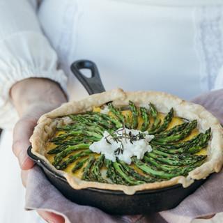 Asparagus w/ Bourbon Mayo Drizzle