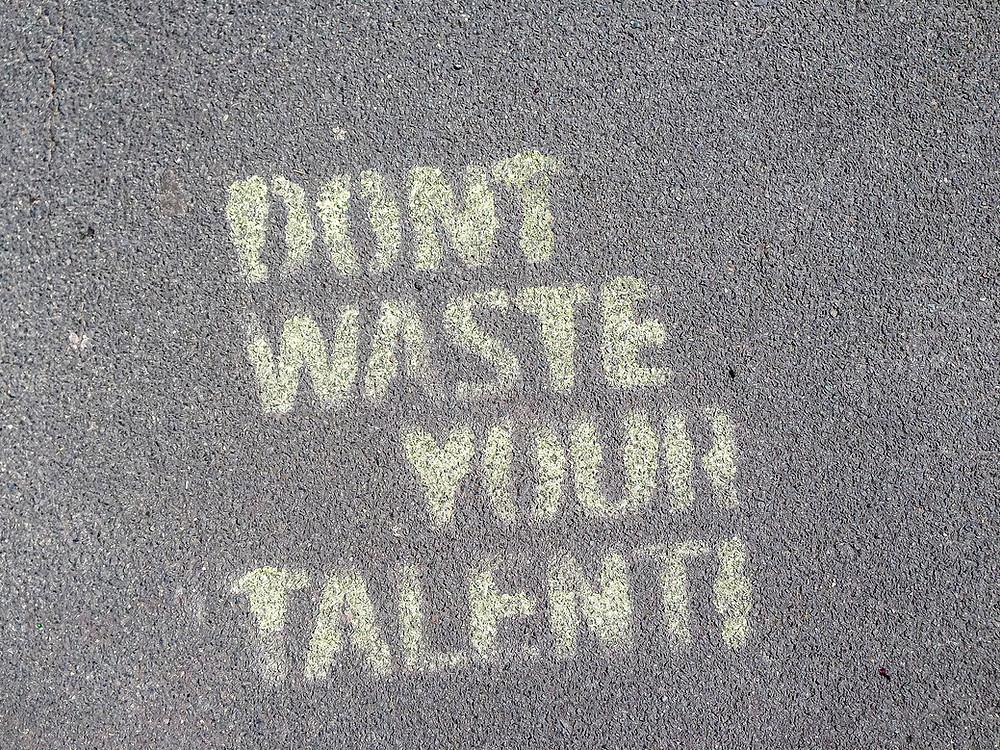 Vergeude dein Talent nicht.