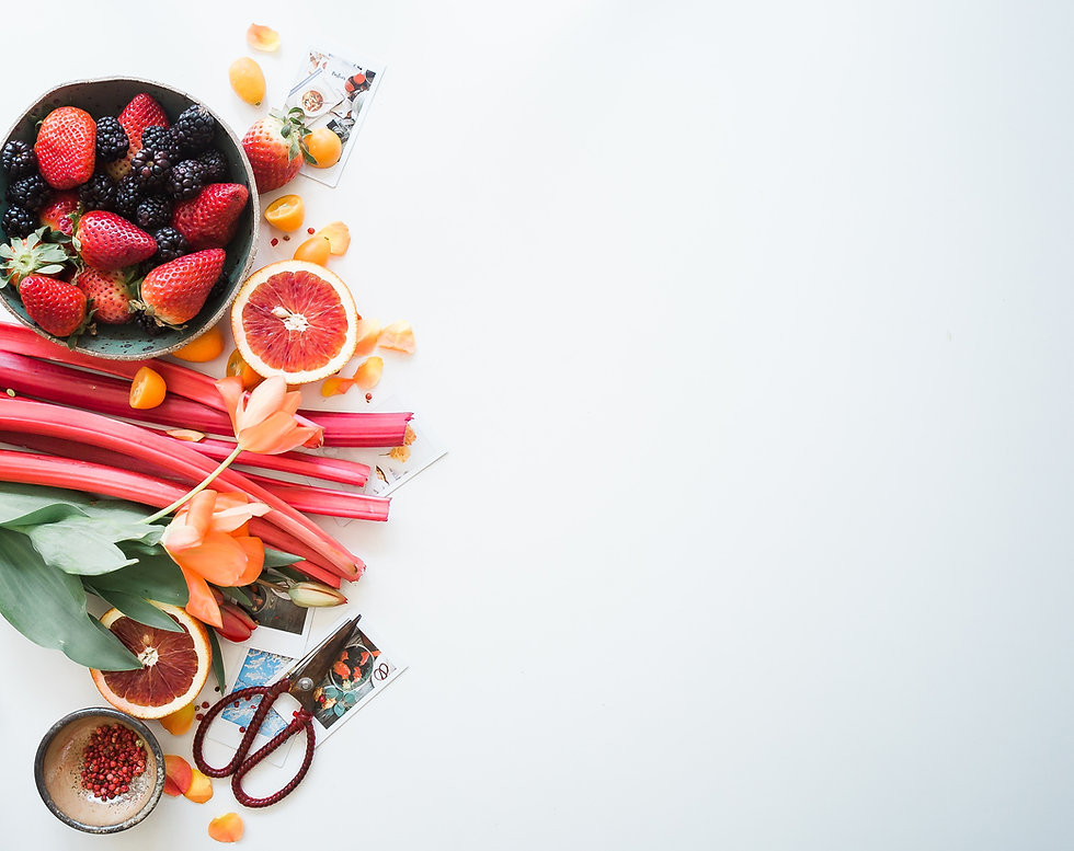 bounty of fruit flatlay