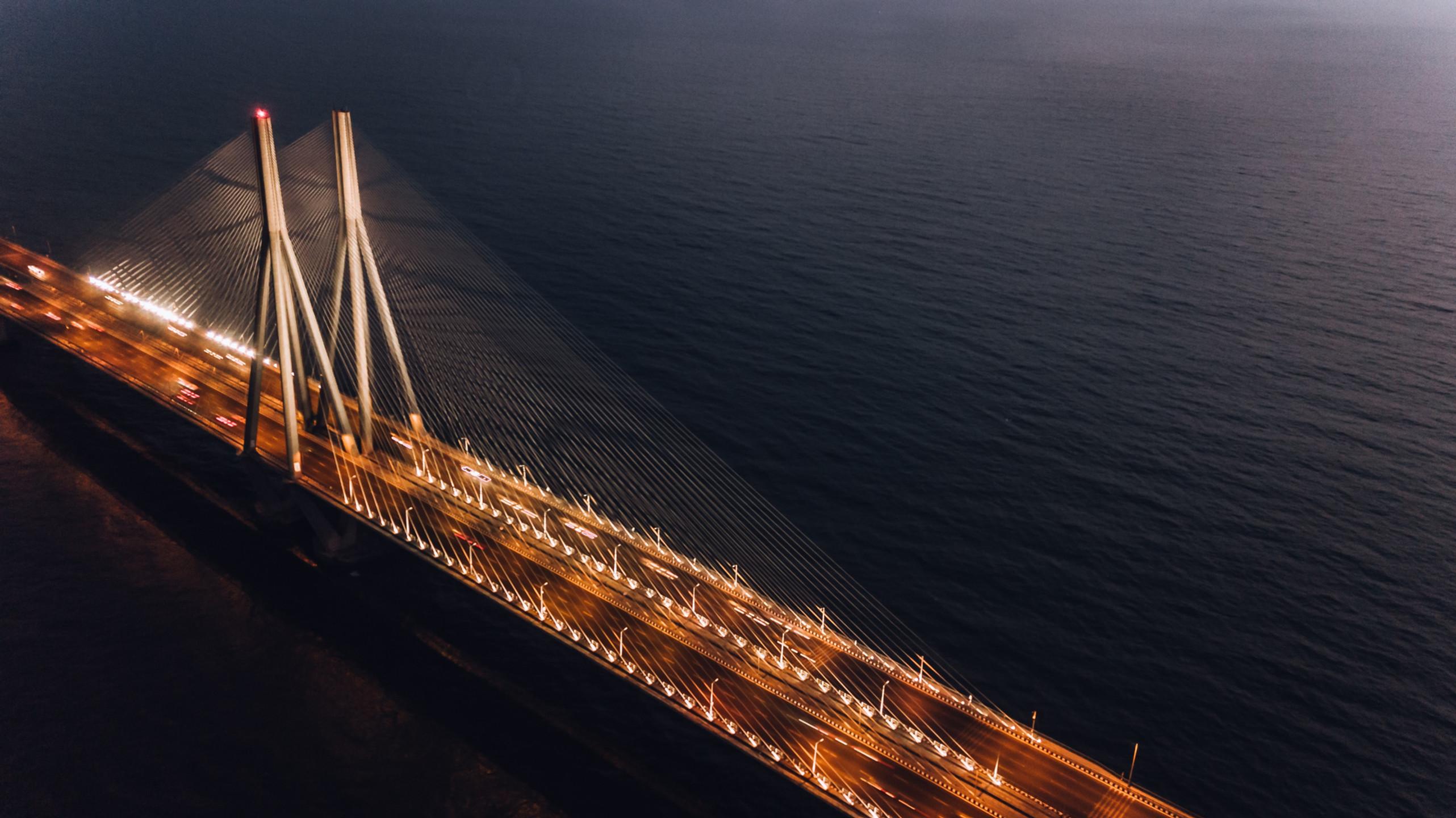 Bandra-Worli Sea Link, Mumbai, India.
